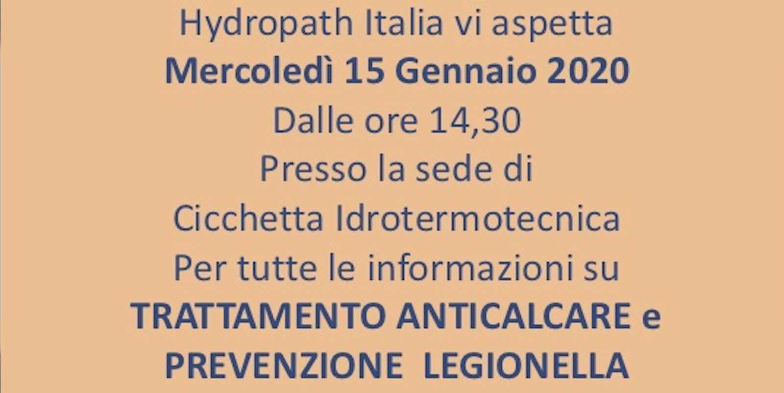 Trattamento Anticalcare e Prevenzione Legionella